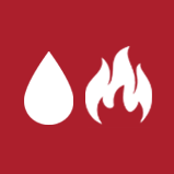 Water Drop and Fire Flame Icon